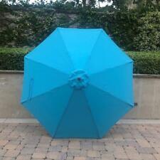 9ft Patio Garden Market Replacement Umbrella Canopy Cover Top 8 Ribs Aqua Olefin