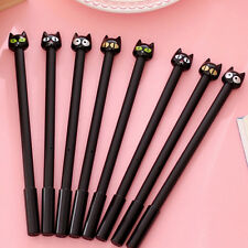 Hot 4x Black Cat Gel Pen Kawaii Stationery Pretty Gift School Supplies 0.5mm JKC