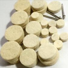 30pcs Mixed Set Soft Felt Polishing Wheel Buffer Pad for Rotary Tools Abrasives