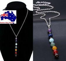 7 Chakra Beads Pendant Women Yoga Reiki Healing Balancing Chain Necklace Jewelry