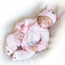 "Newborn Alive Lifelike Reborn Baby 55cm/22"" Realistic Soft Vinyl Girl Dolls Gift"