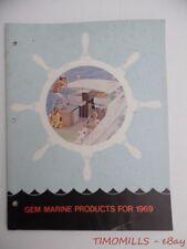 1969 Gem Marine Products Co. Boating Boat Supply Catalog Horns Marine Hardware