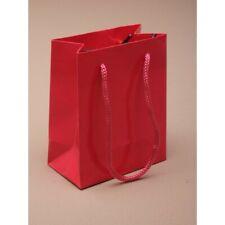 12 X Klein Geschenk Geschenktüten in Fuchsia Kabelgebunden Griffe H10xW8xD4.5cm