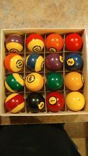 VINTAGE  Brunswick CENTENNIAL  Pool Balls Billiard ball set in original box!!