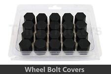 20 unidades x Negro Rueda Silicona 17mm Tuerca/Tornillo/Cubiertas Para Tornillos