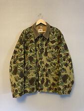New listing Vintage DUXBAK Camo Canvas Hunting Jacket, Mohawk Duck Coat USA Men's XL Amazing