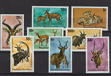africain ANIMAUX Ensemble de 8 TIMBRES MNH 1975 Rwanda #614-21 Kudu Eland IMPALA