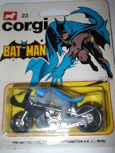 VINTAGE CORGI JUNIORS 23 BATMAN MOTOR BIKE BATBIKE NEW IN SEALED PACK MINT
