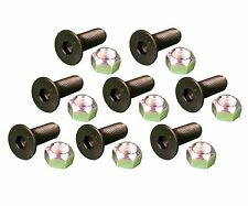 8 - Caterpillar Style Skid Steer Cutting Edge Bolts w Nuts - 159-2953, 8T-4778