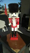20 inch Large Soldier Nutcracker Christmas Display Wood Red Black