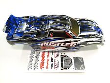 NEW TRAXXAS RUSTLER Body Painted BLUE Edition VXL RUE4B