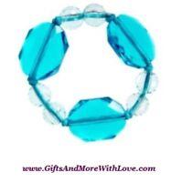 Gymboree NWT Aqua Crystal ALOHA SUNSHINE BEAD PULL ON BRACELET JEWELRY GIFT ~ OS