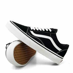 VAN Old Skool Skate Shoes Black All Size Classic Canvas Running Sneakers UK3-10