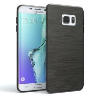 Schutz Hülle für Samsung Galaxy S6 Edge Plus Brushed Cover Handy Case Anthrazit