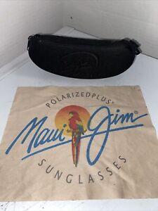 Maui Jim Zippered Hard Shell Sunglasses Case With Belt Hook - Black - Case Only