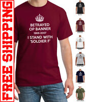 I Stand with Soldier F Airborne T-shirt op banner betrayed support veterans
