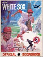 1971 (July 9) Baseball program Milwaukee Brewers @ Chicago White Sox, unscored