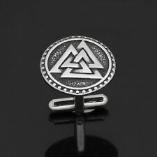 Nordic Viking Valknut Amulet Stainless steel Cufflinks for man and women