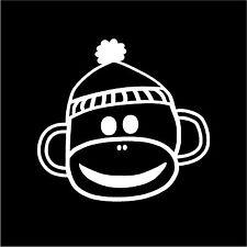 Sock Monkey Baby on Board Boy or Girl Car Truck Auto Vinyl Decal Sticker