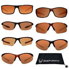 HD Visione Blu Blocker Occhiali da Sole Golf Ciclismo Guida Tennis Ambra