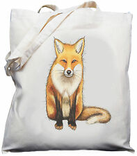 Fox Design - Natural (Cream) Cotton Shoulder Bag / Shopper/ Tote