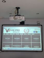 "2in1 Projection Screen and Drywipe Whiteboard 78"" Diagonal Size. High Quality!"
