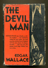 THE DEVIL MAN by Edgar Wallace - 1931 1st Edition in DJ - Scarce