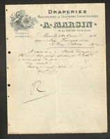 "MARSEILLE (13) USINE de DRAPERIE , CONFECTION ""A. MARSIN"" illustrée LICORNE 1914"