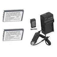 2X NP-60 Batteries + Charger for DXG DXG-521 DXG-571V DXG-581V DXG-589V DVV-581