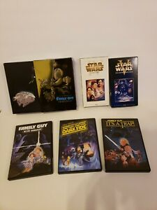 Star Wars Family Guy Trilogy Dvd Box set blue harvest Darkside It's a trap vhs