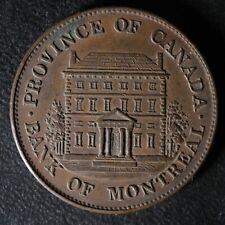 PC-1B4 Halfpenny 1844 token Province of du Canada Montreal Quebec Breton 527