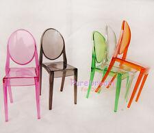 Wholesale 6PCS 1/6  Dollhouse Barbie Furniture Transparent Chair 5 Colors