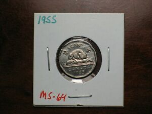 1955 Canada 5 cents  MS 64