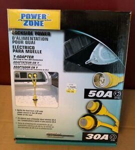 Power Zone Dockside Power Boat Marine Y-Adapter 50amp to 30amp Splitter NEW