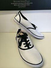 Pastry White Women's Shoes Black Trim & Laces Shiney Sneakers Shoe Size 10