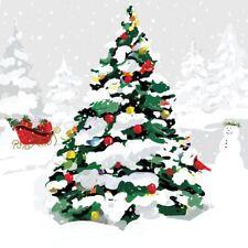 """árbol de Navidad Trineo Verde 3 capas 20 servilletas papel 33cmx13 """"– 33x33cm"""