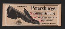HAMBURG WIEN, Werbung 1912, Messtorff, Behn & Co. Petersburger Gummischuhe