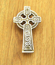 Door Knocker, Celtic Cross Design in Cast Brass, Polished Finish made in UK