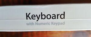 New A1243 Apple Aluminum Slim USB Keyboard US-ENG with Numeric Keypad MB110LL/B