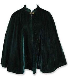 Capelet, Satin Lined Velvet Cape, Short Renaissance Cloak, Unisex Medieval Larp
