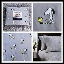 Berkshire Peanuts Snoopy & Woodstock Best Friends Full Grey Sheet Set