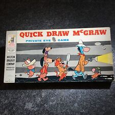 1960 Vintage Quick Draw McGraw Private Eye Board Game By Milton Bradley