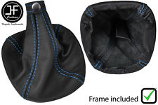 BLUE STITCH LEATHER GEAR BOOT WITH PLASTIC FRAME FITS ALFA ROMEO MITO 08-17