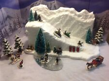 Christmas Village Ski Slope Mountain For Lemax Dept 56