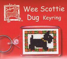 Wee Scottie Dug Dog Keyring Cross Stitch Kit By Textile Heritage