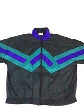 Mens Vintage Retro Adidas Original Warmup Track Jacket,1980s Rare,XL