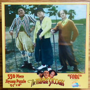 """SunsOut US Three Stooges """"Fore"""" Golf 550 Pieces 15.5"""" x 18"""" Jigsaw Puzzle - NEW"""