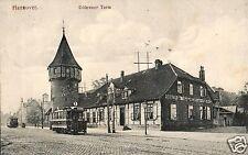 18595/ Foto AK, Hannover, Döhrener Turm, Straßenbahn, 1919