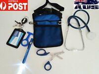 nurse pouch + stethoscope + watch + scissor + penlight neuro torch + ID holder