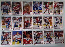 1990-91 Upper Deck UD Washington Capitals Team Set of 18 Hockey Cards